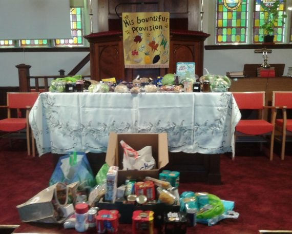 The picture of our Harvest Thanksgiving table